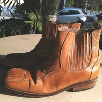 Real leather men boots