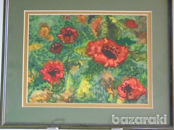 Hand painted on silk-1