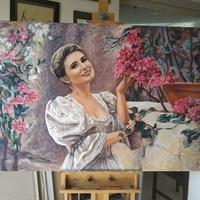 Portraits in academical and expressive figurative style