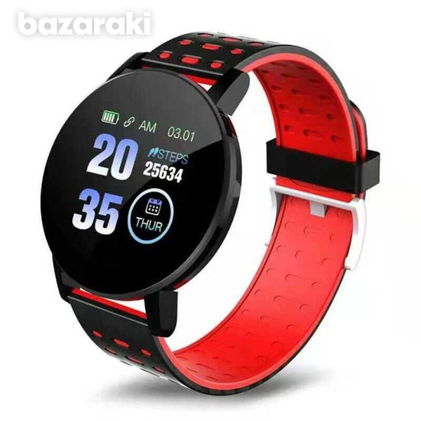 119plus fitness watch blood pressure heart rate pedometer fitness tracker-3