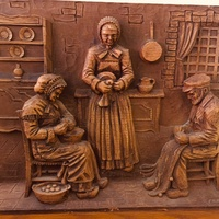Carved wooden art from holland