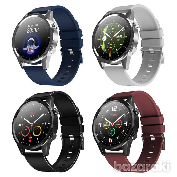 Fitness watch android ios make bluetooth call heart rate blood pressure-1