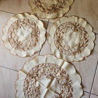 Four round table cloths - one large + three small
