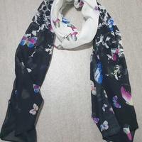 Scarf with butterflies