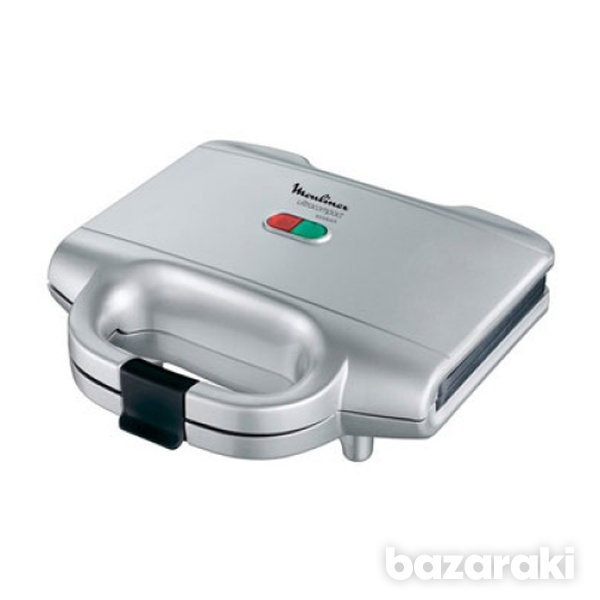 Moulinex sm1561 ultracompact sandwich maker, 700w, silver-1