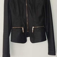 Womans real leather stylish jacket small size