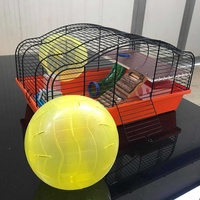 Equipments with additional running ball for rodents