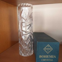 Bohemia crystal vase with box