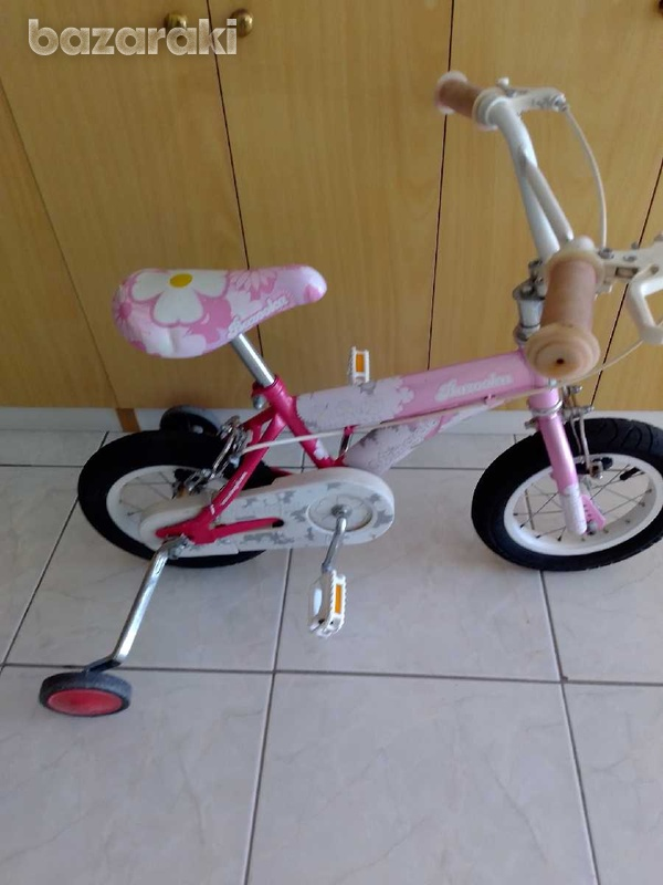 Bicycle for child with side wheels excellent condition like brand new.-2