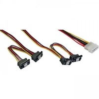 Inline power cable 5.25 inch to 4 x sata
