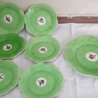Vintage ceramic handpainted set of plates