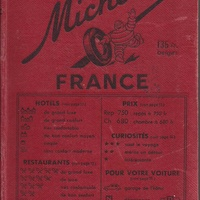 Old unique 1953 michelin tourist guide