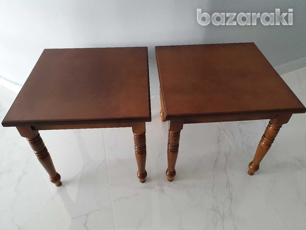 Two wooden side tables-3