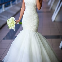 Wedding dress, ivory, xs/s, used once