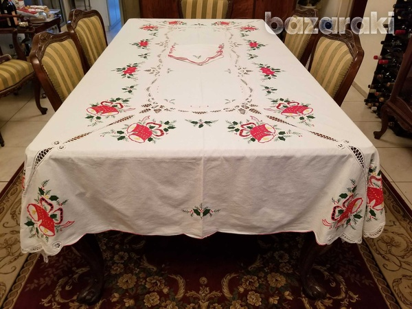 Christmas tablecloth, extra large-2