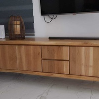 Solid oak wood tv-stand - cabinet