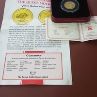 24ct solid gold coin extremly rare