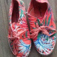 Summer floral printed convas shoes - two pairs