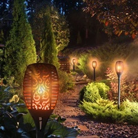 Led waterproof outdoor solar dancing flame light garden flickering lam