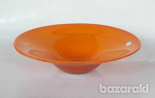 Vintage art glass bowl 23.5x8cm in very good condition for decor-1