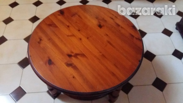 Solid wooden pine rosedale round coffee table-2