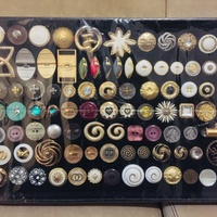 Collection of various garment buttons. new set