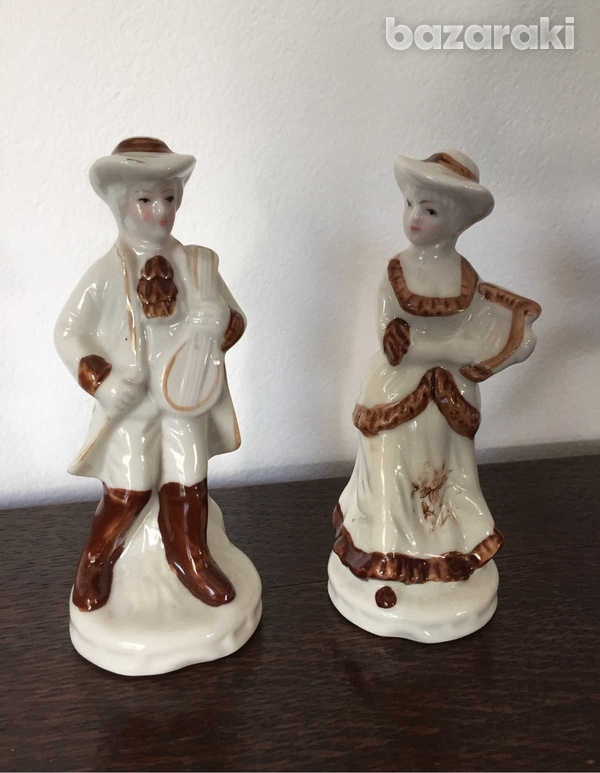 Vintage man and lady figurines 15cm height set-1