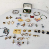 Set of vintage cufflinks/ brooches