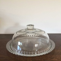 Glass plate with dome lid for cake diameter 27 cm and 18 cm height