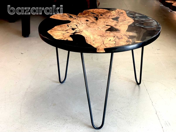 Coffee table olive wood and epoxy-1