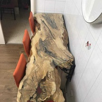 Olive wood console - table