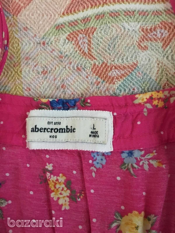 Abercrombie and fitch kids girls floral dress sz l-4
