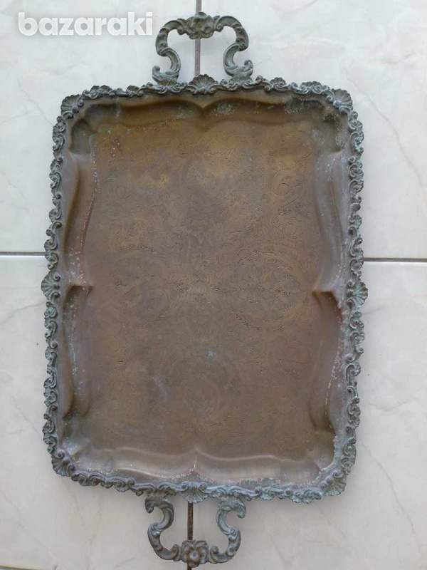 Tray antique from the year 1900.δισκος αντίκα από το έτος 1900.-8