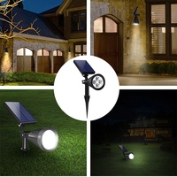 4 led solar power flood spot light outdoor garden yard lawn path lamp waterproof
