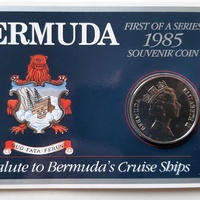 Bermuda 1985 souvenir coin in blister