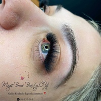 Eyelash attention and magic brows beauty