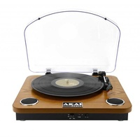 New akai wooden turntable -bluetooth, build-in speakers, usb/sd card
