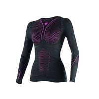 D-core thermo tee ls lady blk/fuchsia