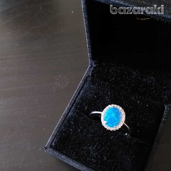 New opal silver 925 ring-2