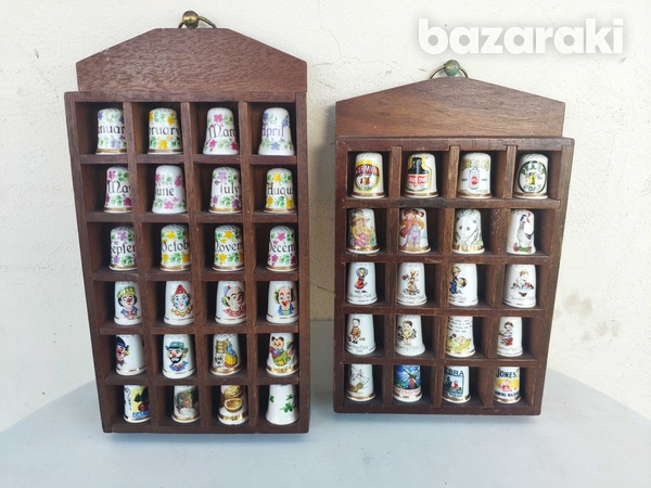 Vintage collection of thimbles