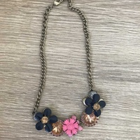 Flower stainless steel necklace