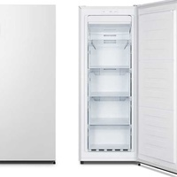 Hisense fv191n4aw1 καταψύκτης total no frost freezer, 147lt