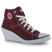 Lee cooper red canvas wedge shoes