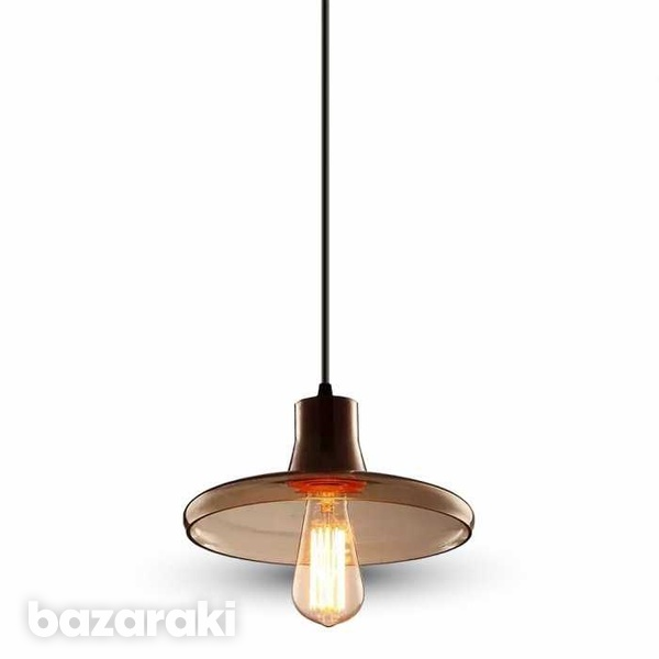 Glass pendant light amber 235