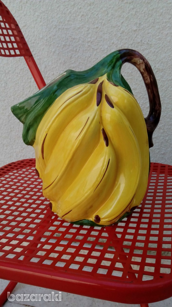 Italian handpainted retro banana shaped vase-2