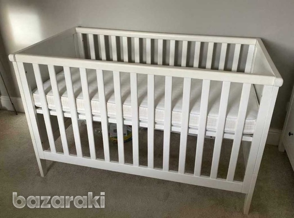 Mothercare cot bed with mattress-1