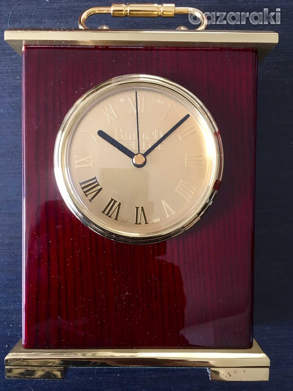 Classic solid wood and copper table clock-2