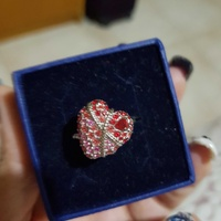 Swarovski ring red heart