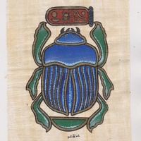 Scarab papyrus from egypt