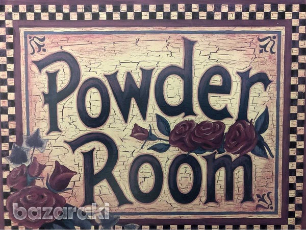Powder room door wall sign-2
